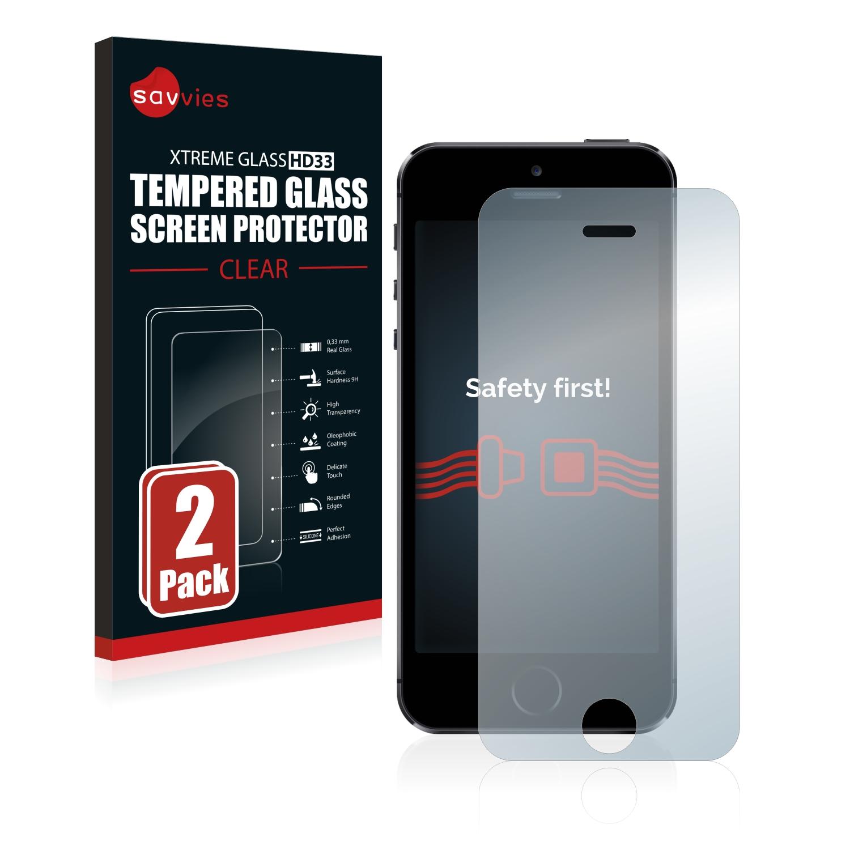 2x Savvies HD33 tvrzené ochranné sklo pro Apple iPhone 5S