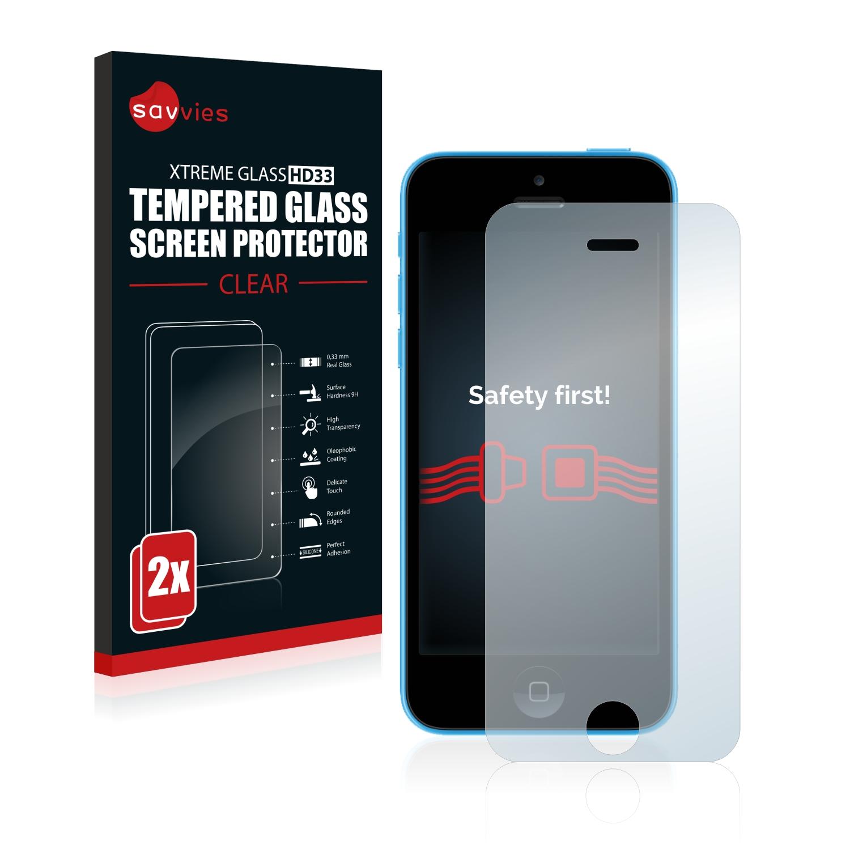 2x Savvies HD33 tvrzené ochranné sklo pro Apple iPhone 5C