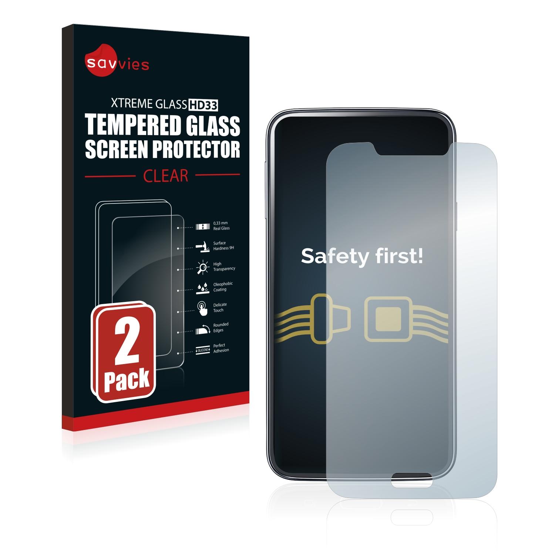 2x Savvies HD33 tvrzené ochranné sklo pro Samsung Galaxy S5 SM-G900I SM-G900F