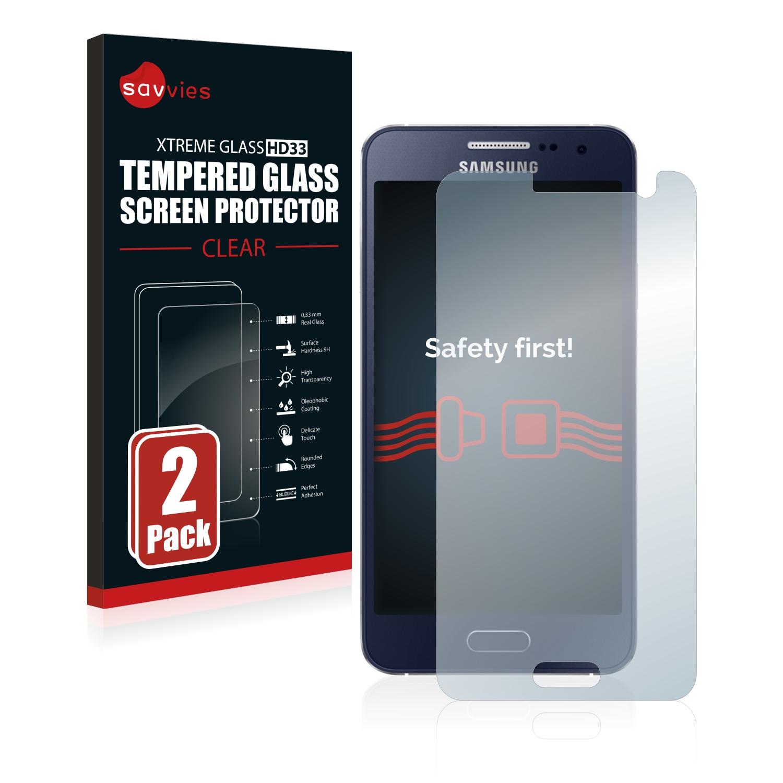 2x Savvies HD33 tvrzené ochranné sklo pro Samsung Galaxy A3 2015