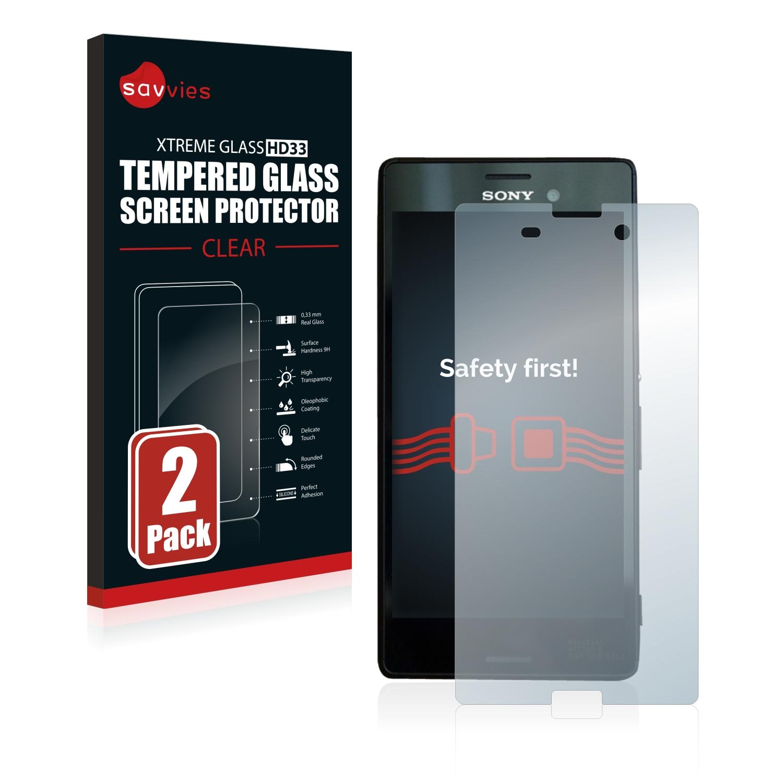 2x Savvies HD33 tvrzené ochranné sklo pro Sony Xperia M4 Aqua