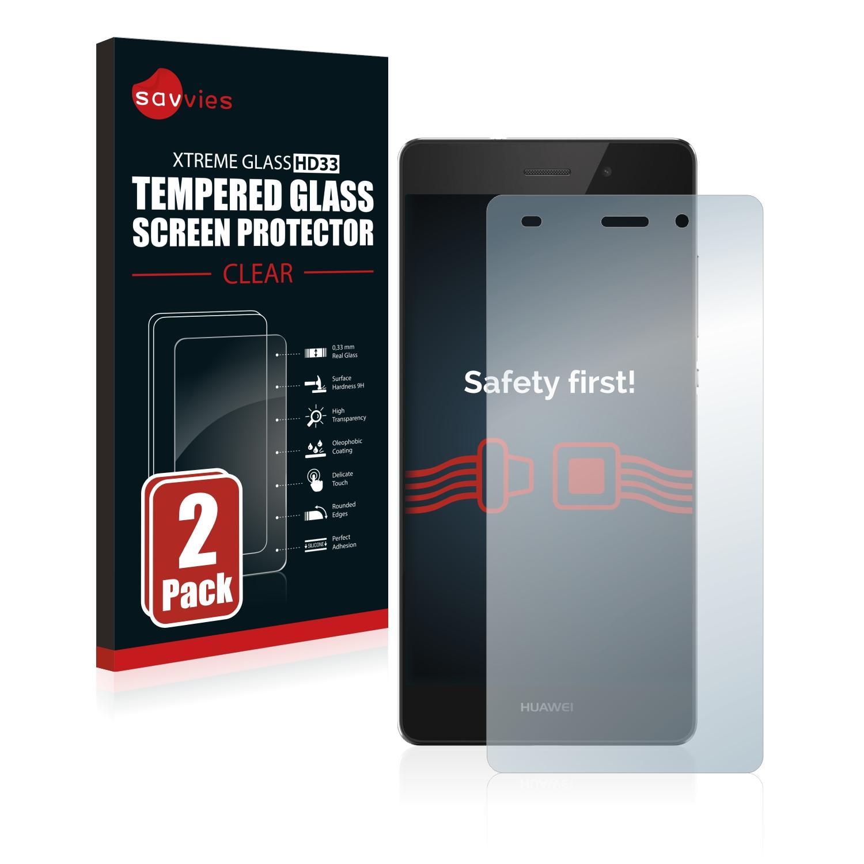 2x Savvies HD33 tvrzené ochranné sklo pro Huawei P8 Lite 2015/2016