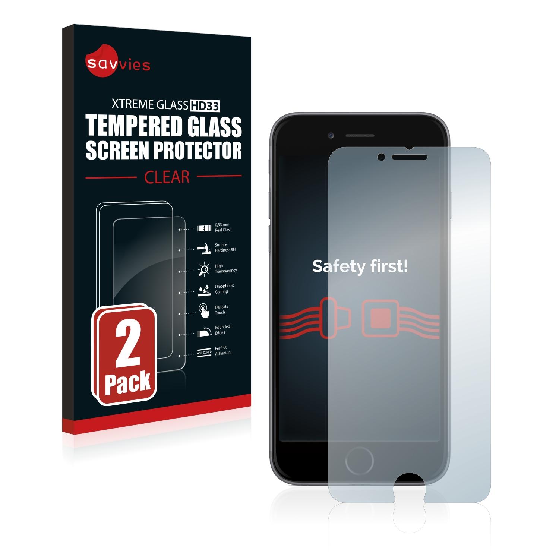 2x Savvies HD33 tvrzené ochranné sklo pro Apple iPhone 6S