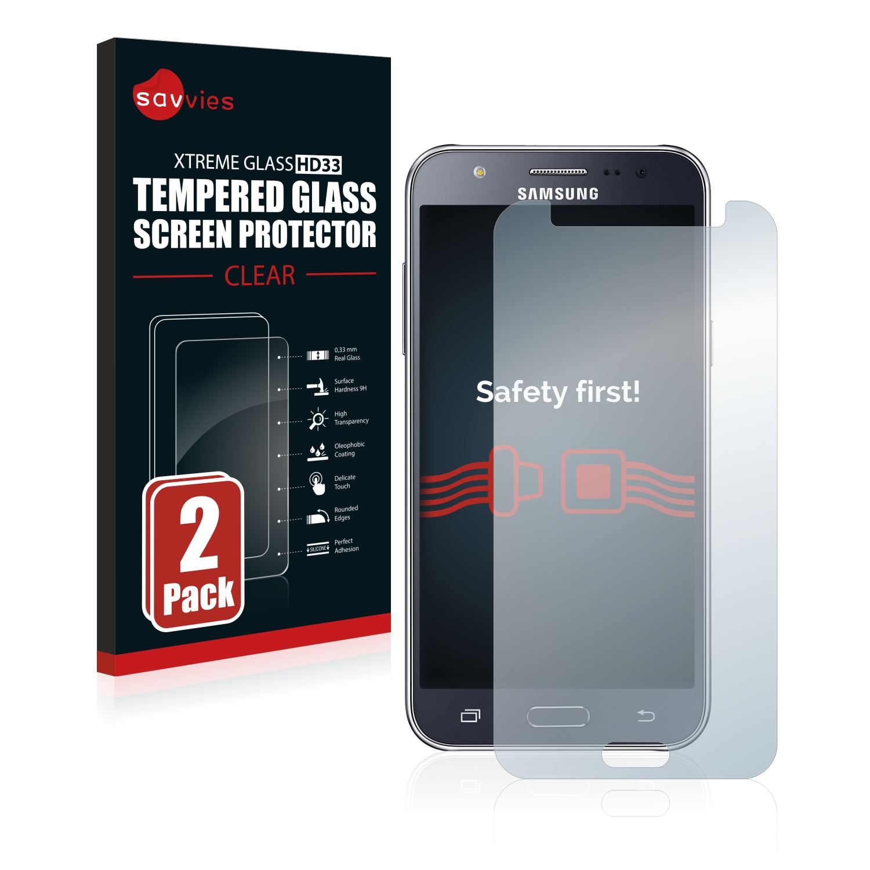 2x Savvies HD33 tvrzené ochranné sklo pro Samsung Galaxy J5 2015