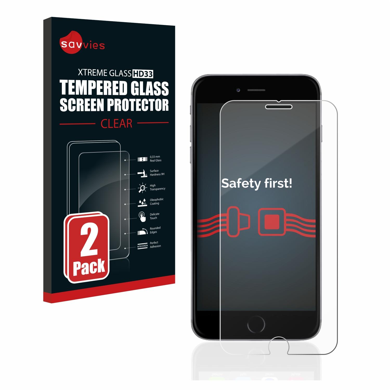 2x Savvies HD33 tvrzené ochranné sklo pro Apple iPhone 6S Plus