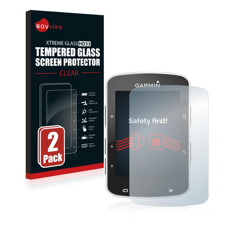 2x Savvies HD33 tvrzené ochranné sklo pro Garmin Edge 520