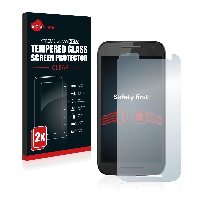 2x Savvies HD33 tvrzené ochranné sklo pro Motorola Moto G 3rd 2015