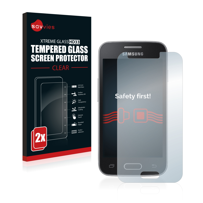 2x Savvies HD33 tvrzené ochranné sklo pro Samsung Galaxy Trend II Lite
