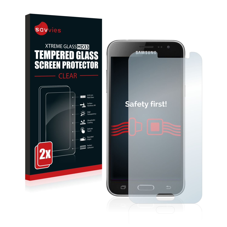 2x Savvies HD33 tvrzené ochranné sklo pro Samsung Galaxy J3 2015