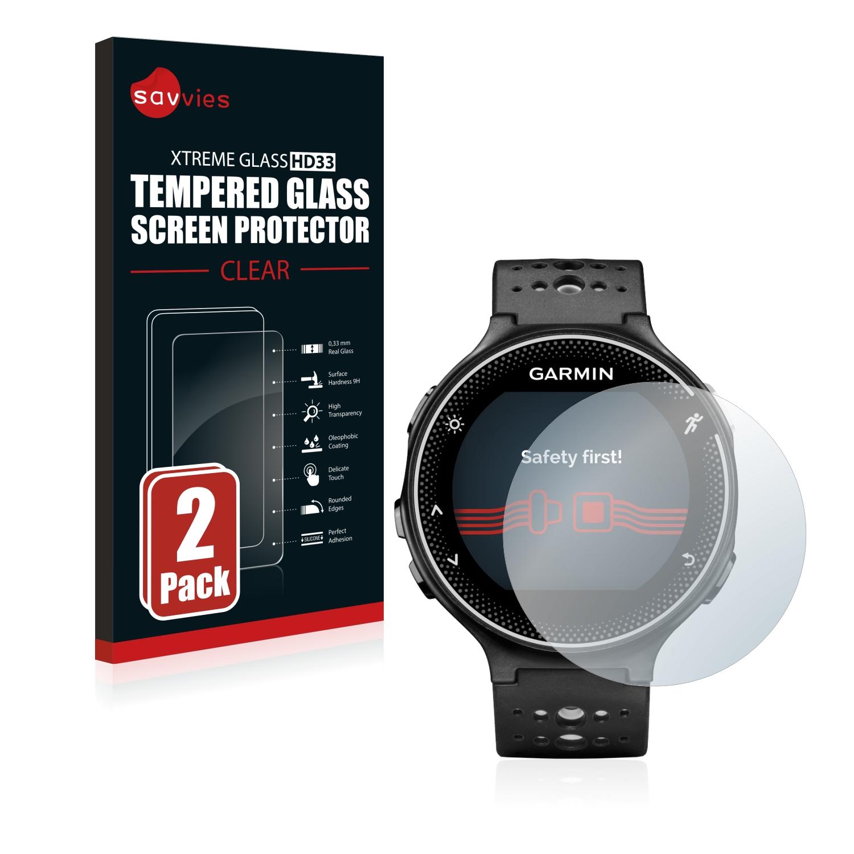 2x Savvies HD33 tvrzené ochranné sklo pro Garmin Forerunner 230