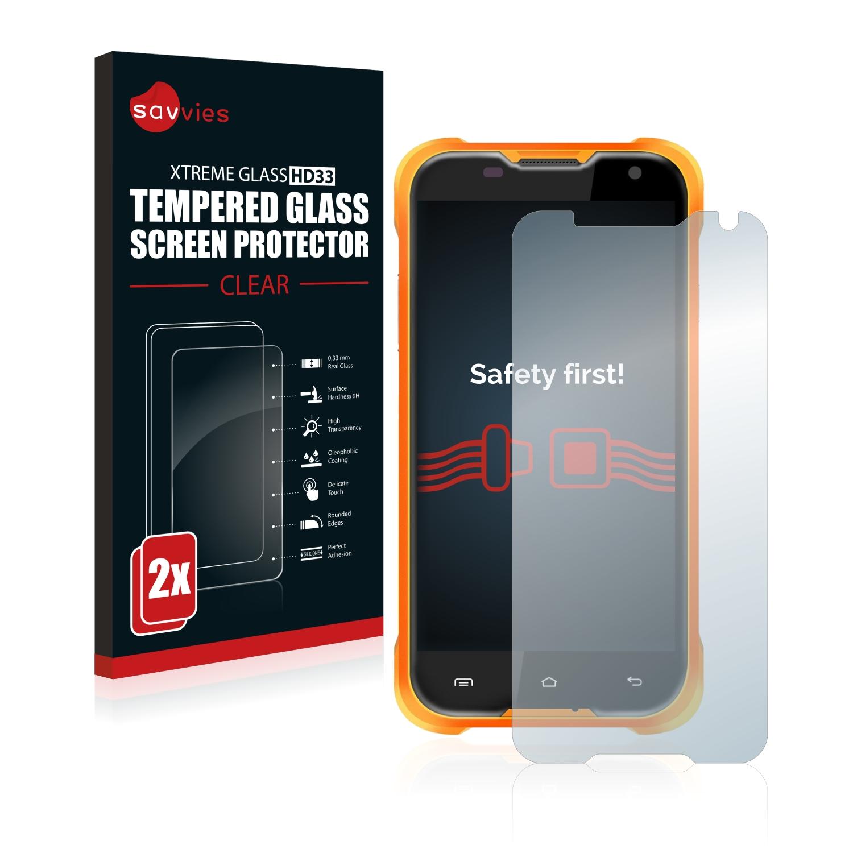 2x Savvies HD33 tvrzené ochranné sklo pro Blackview BV5000