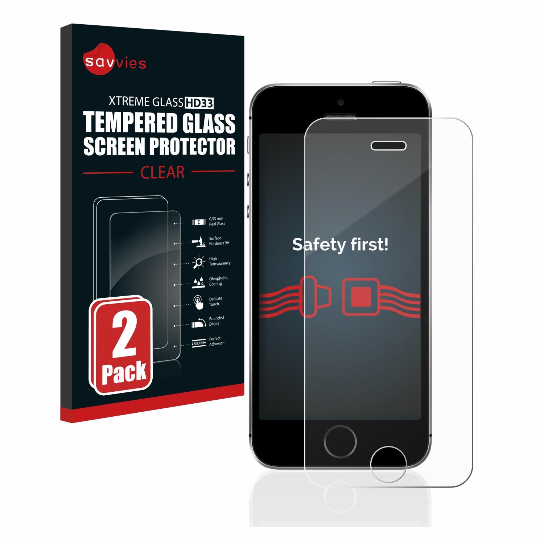 2x Savvies HD33 tvrzené ochranné sklo pro Apple iPhone SE 2016