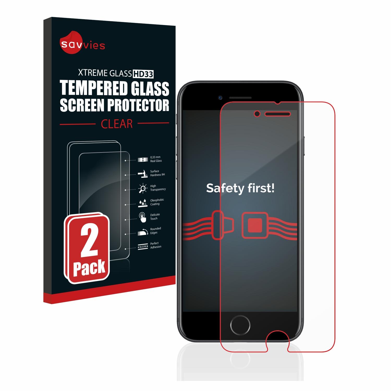 2x Savvies HD33 tvrzené ochranné sklo pro Apple iPhone 7