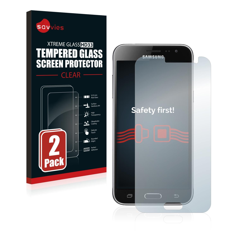 2x Savvies HD33 tvrzené ochranné sklo pro Samsung Galaxy J3 Duos 2016