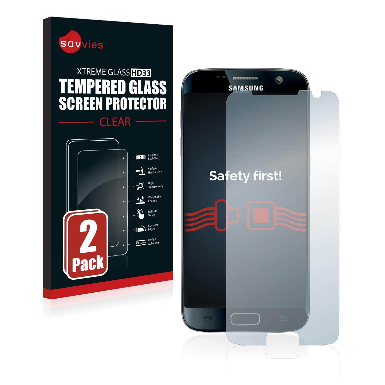 2x Savvies HD33 tvrzené ochranné sklo pro Samsung Galaxy S7 Exynos