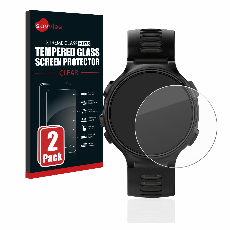 2x Savvies HD33 tvrzené ochranné sklo pro Garmin Forerunner 735XT