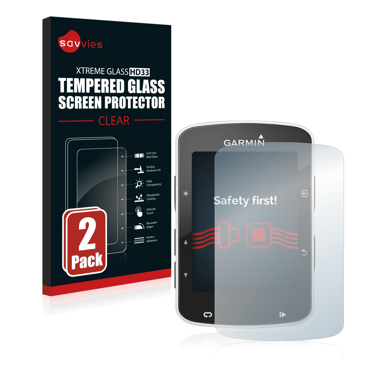 2x Savvies HD33 tvrzené ochranné sklo pro Garmin Edge 820