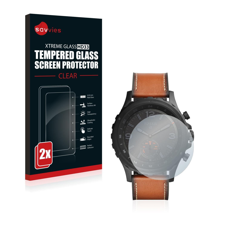 2x Savvies HD33 tvrzené ochranné sklo pro Fossil Q Nate