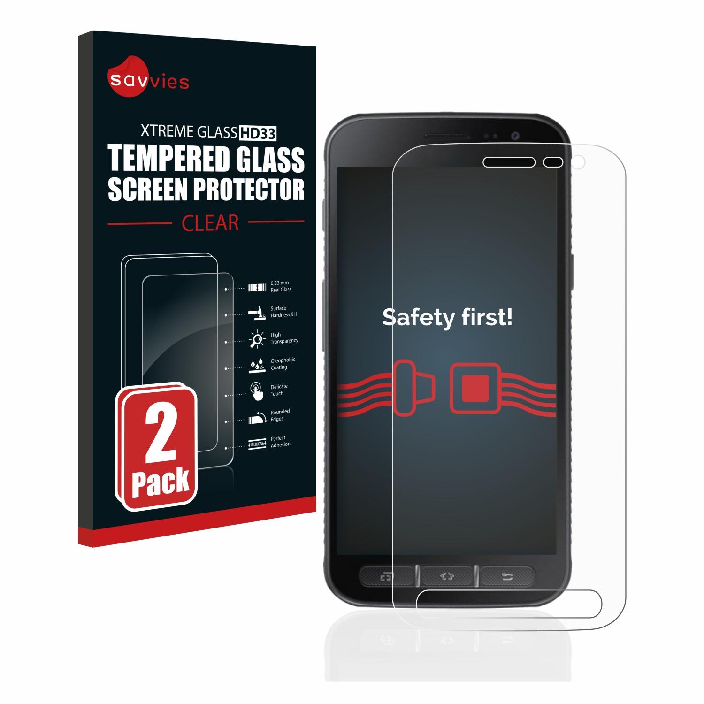 2x Savvies HD33 tvrzené ochranné sklo pro Samsung Galaxy Xcover 4