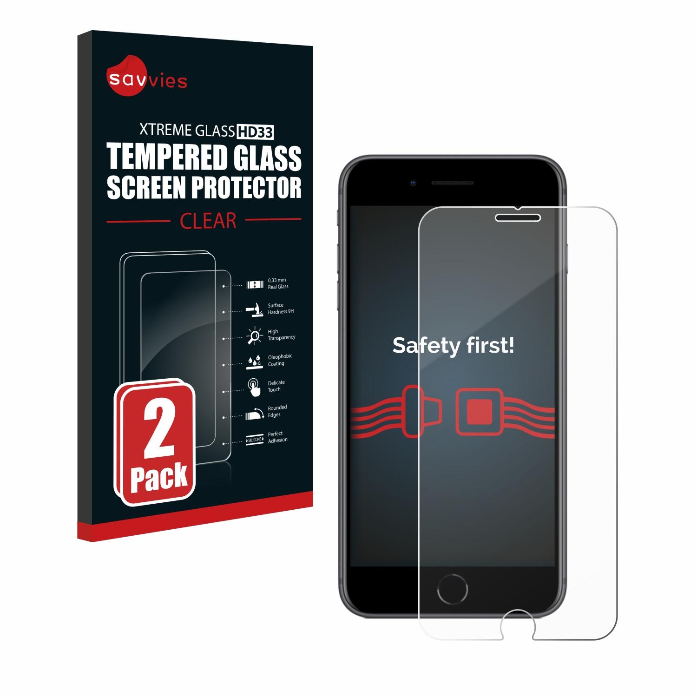 2x Savvies HD33 tvrzené ochranné sklo pro Apple iPhone 8 Plus