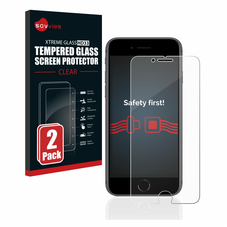 2x Savvies HD33 tvrzené ochranné sklo pro Apple iPhone 8