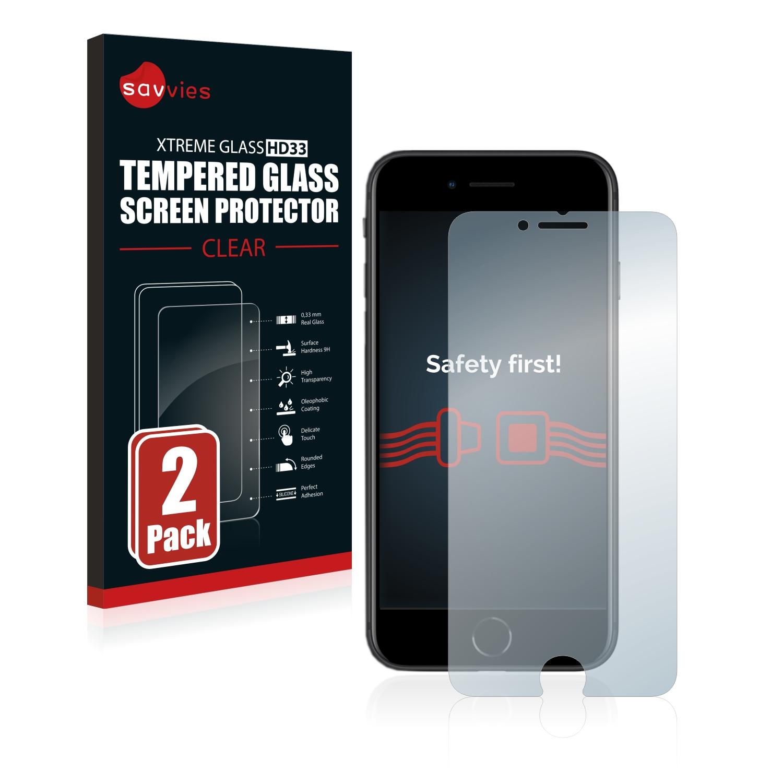 2x Savvies HD33 tvrzené ochranné sklo pro Apple iPhone SE 2 2020