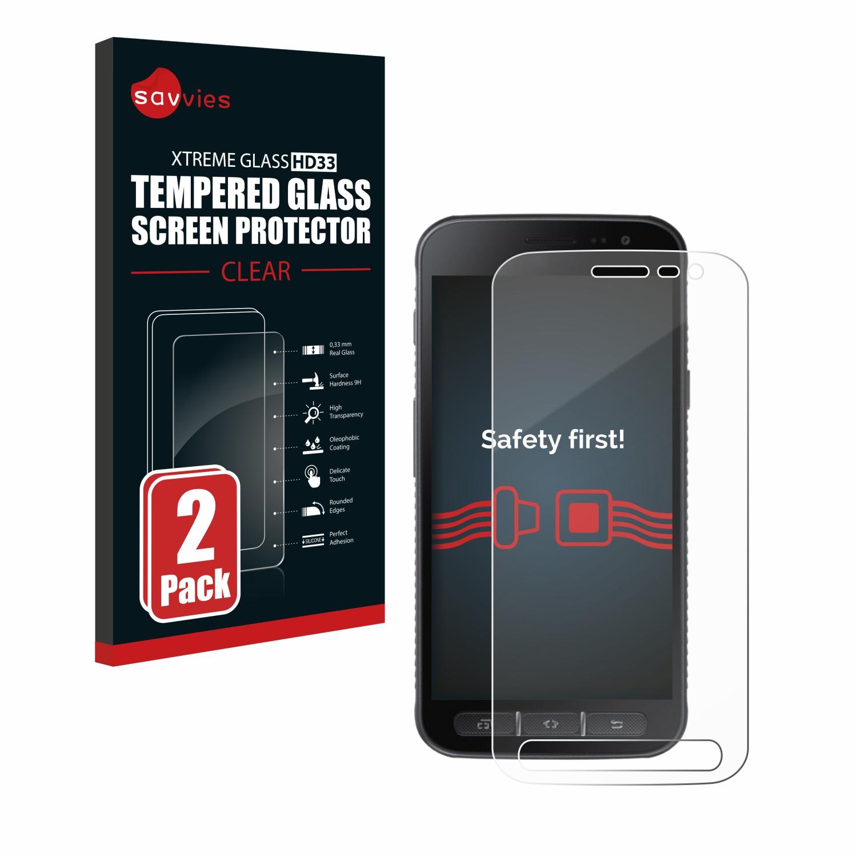 2x Savvies HD33 tvrzené ochranné sklo pro Samsung Galaxy Xcover 4s