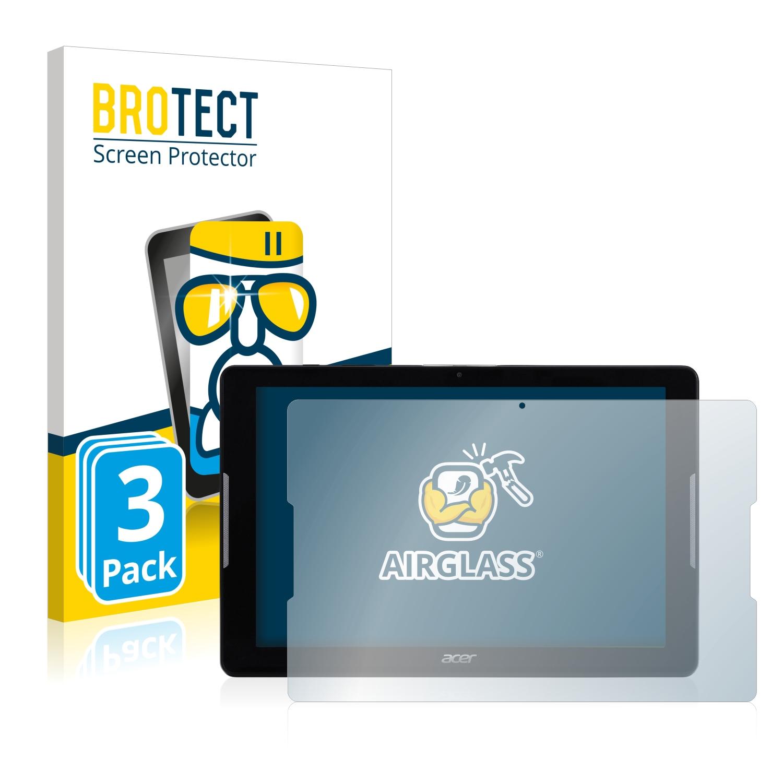 3x BROTECT AirGlass čiré ochranné sklo pro Acer Iconia One 10 B3-A32