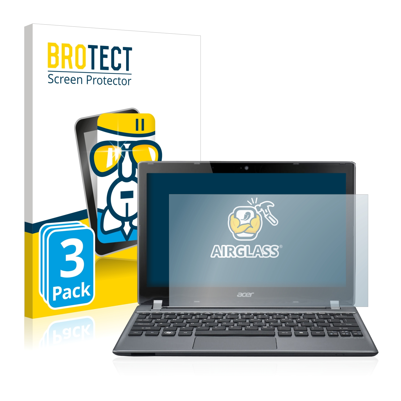 3x BROTECT AirGlass čiré ochranné sklo pro Acer Aspire V5-171-73518G50ass