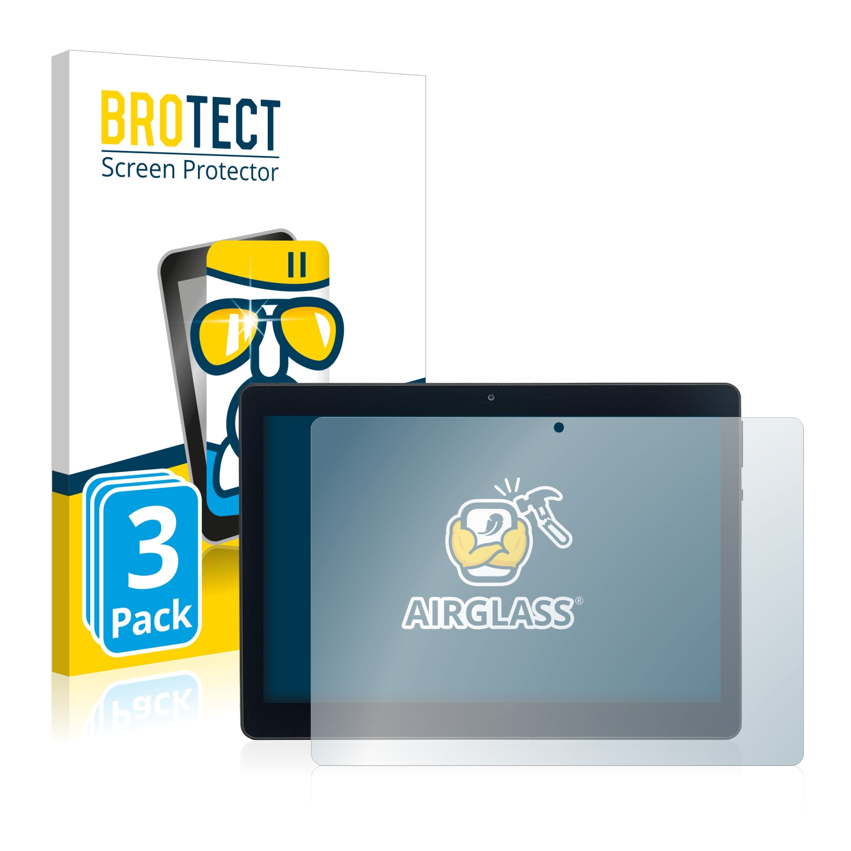 3x BROTECT AirGlass čiré ochranné sklo pro Acepad A140 10.1