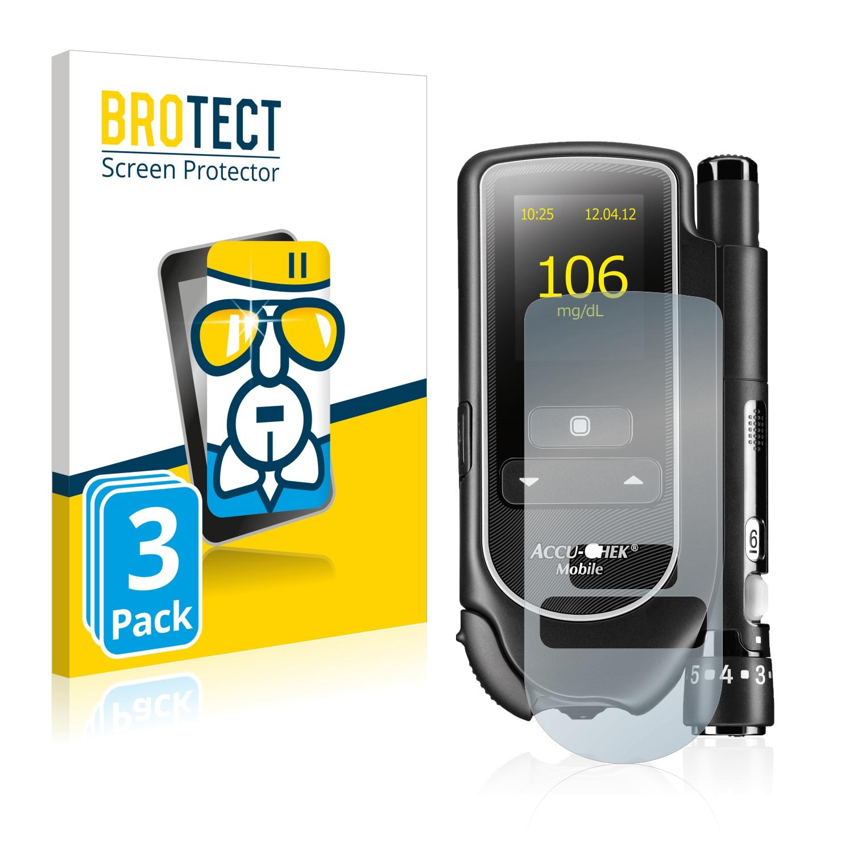 3x BROTECT AirGlass čiré ochranné sklo pro Accu-Chek Mobile