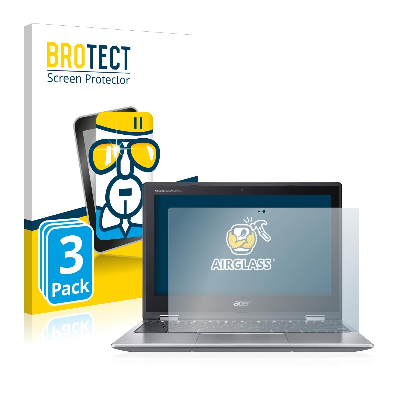 3x BROTECT AirGlass čiré ochranné sklo pro Acer Chromebook 311