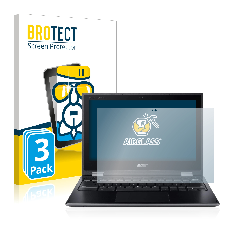 3x BROTECT AirGlass čiré ochranné sklo pro Acer Chromebook Spin 511 R752TN-C5P0