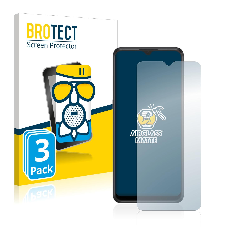 3x BROTECT AirGlass Matné ochranné sklo pro Alcatel 3X 2019