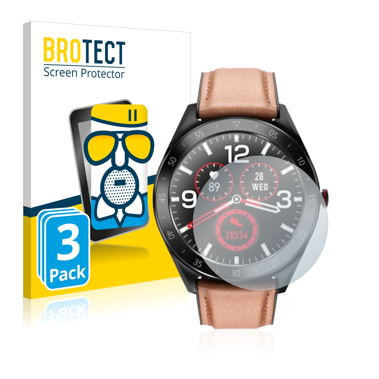3x BROTECT AirGlass Matné ochranné sklo pro Alfawise Watch 6