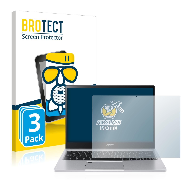 3x BROTECT AirGlass matná skleněná fólie pro Acer Spin 3 SP313-51