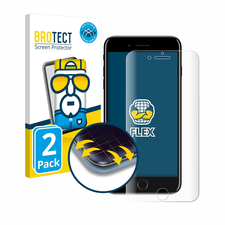 2x BROTECT Flex Full-Cover čirá ochranná fólie pro Apple iPhone 7 Plus