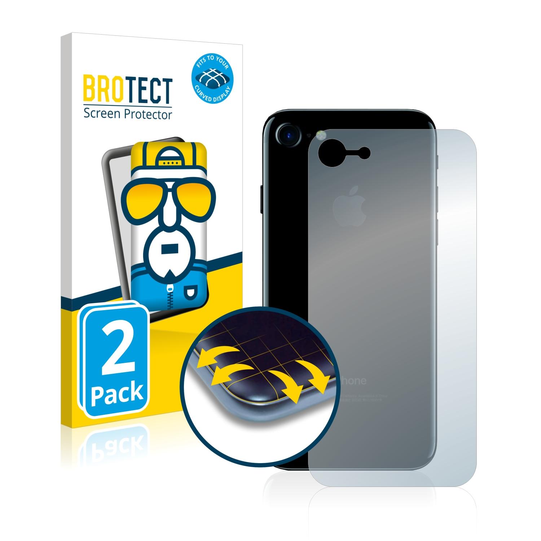 2x BROTECT Flex Full-Cover čirá ochranná fólie pro Apple iPhone 7 zadní strana (celá plocha)