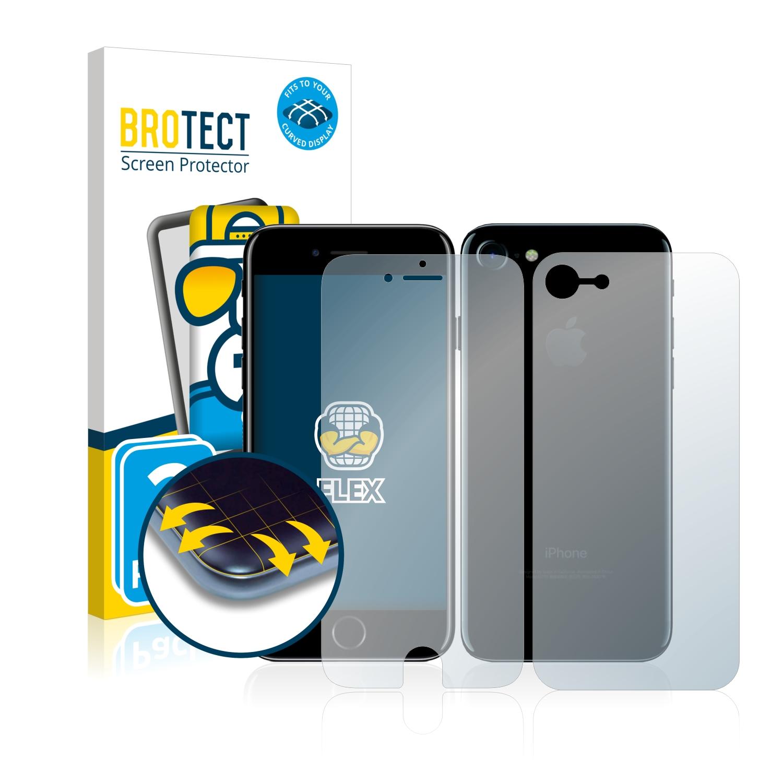 2x BROTECT Flex Full-Cover čirá ochranná fólie pro Apple iPhone 7 (přední + zadní strana)