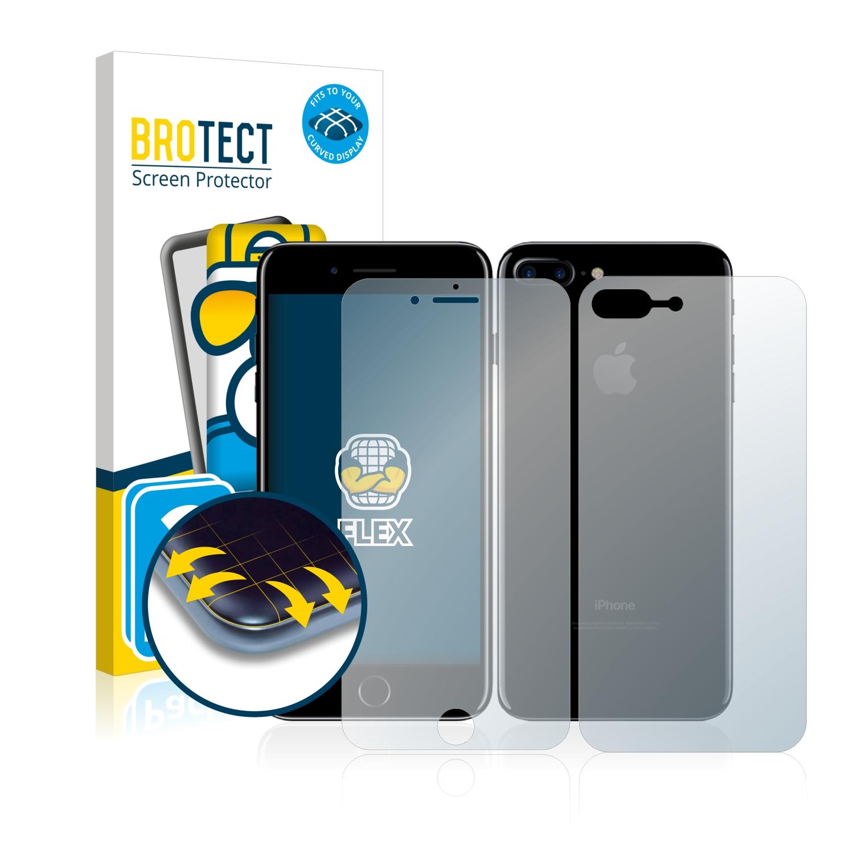 2x BROTECT Flex Full-Cover čirá ochranná fólie pro Apple iPhone 7 Plus (přední + zadní strana)