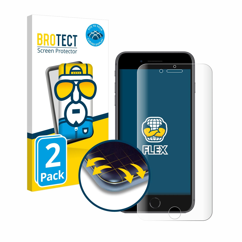 2x BROTECT Flex Full-Cover čirá ochranná fólie pro Apple iPhone 8 Plus