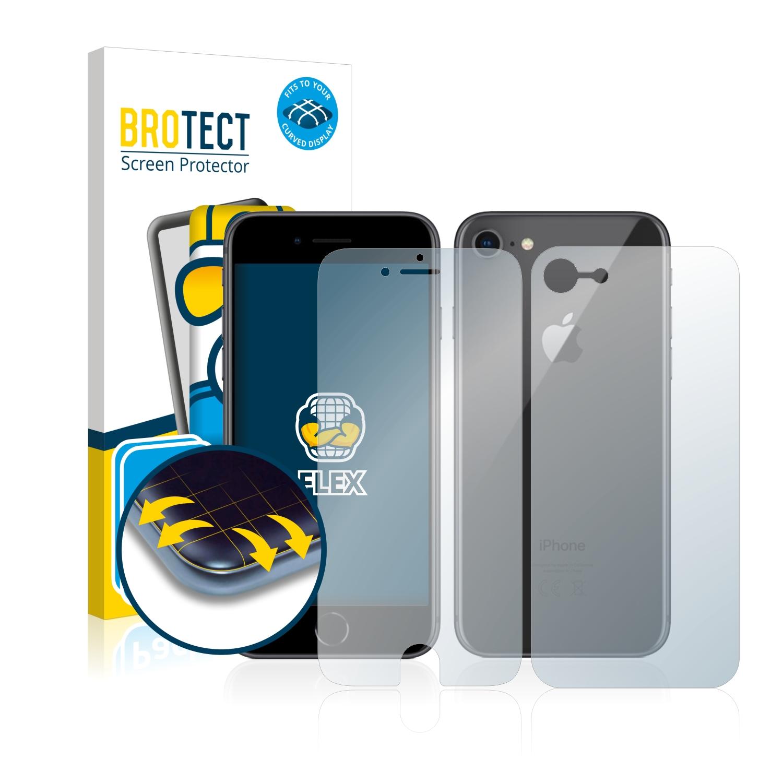 2x BROTECT Flex Full-Cover čirá ochranná fólie pro Apple iPhone 8 (přední + zadní strana)
