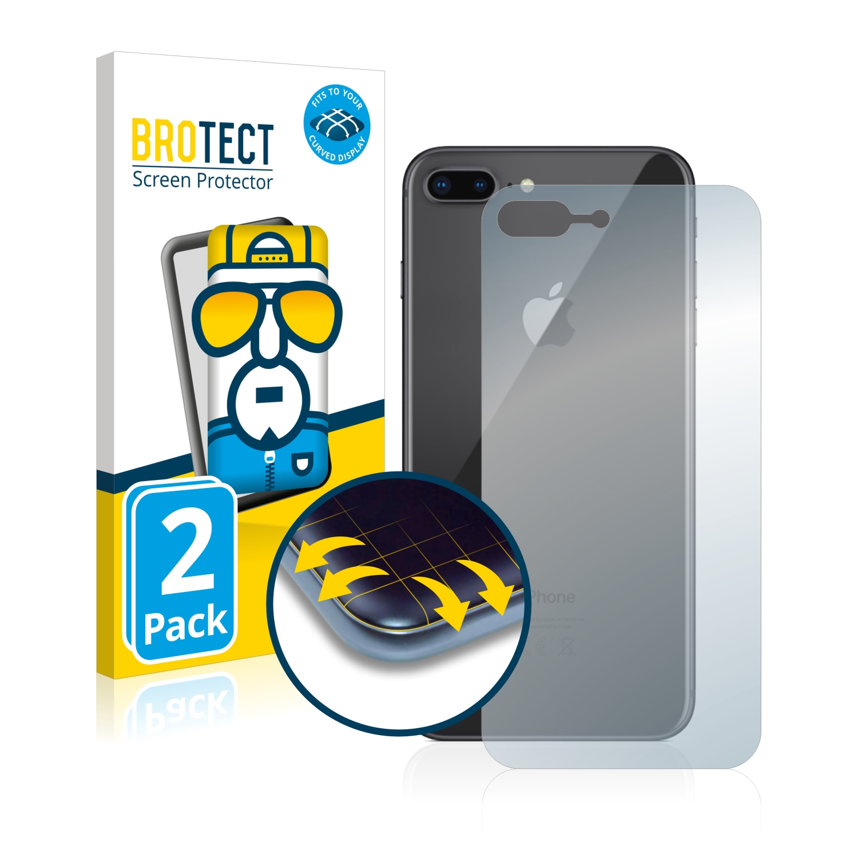 2x BROTECT Flex Full-Cover čirá ochranná fólie pro Apple iPhone 8 Plus (zadní strana)
