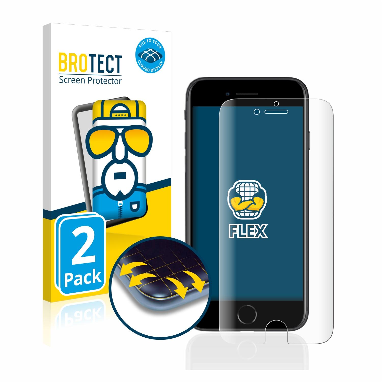 2x BROTECT Flex Full-Cover čirá ochranná fólie pro Apple iPhone SE 2 2020