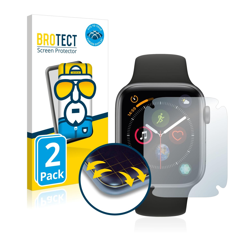 2x BROTECT Flex Full-Cover čirá ochranná fólie pro Apple Watch Series 4 (44 mm)