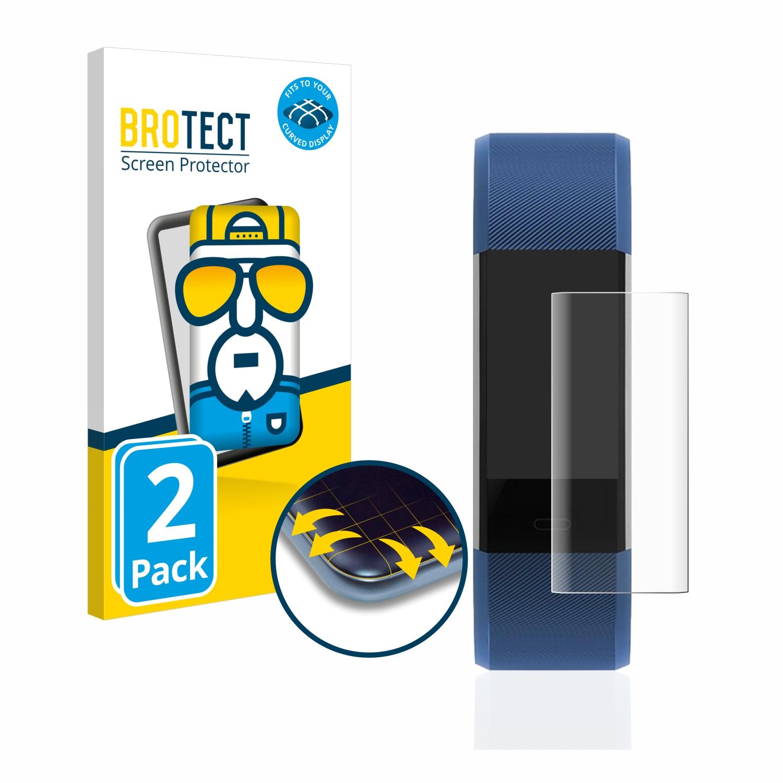 2x BROTECT Flex Full-Cover čirá ochranná fólie pro Antimi Fitness Tracker