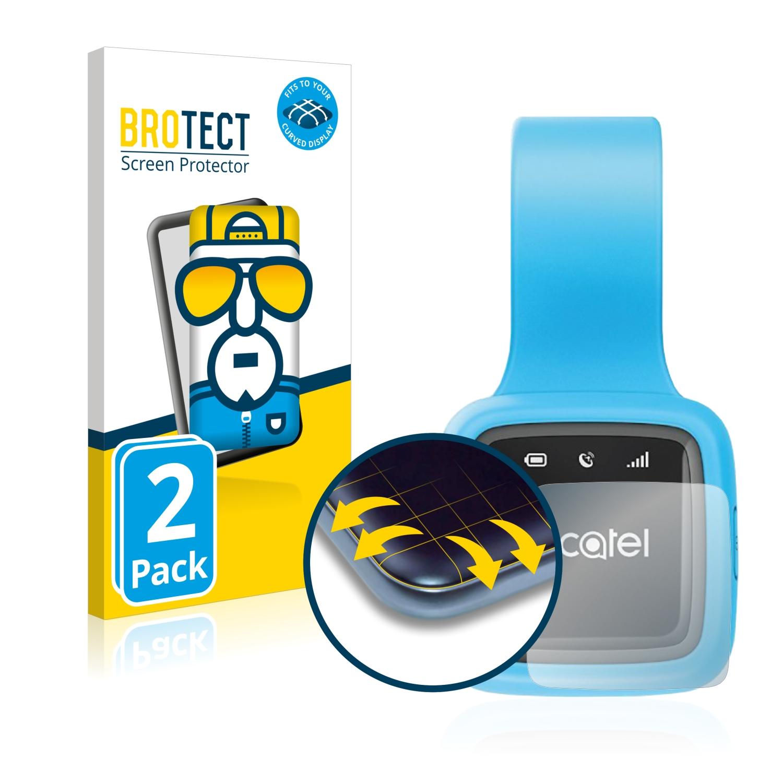 2x BROTECT Flex Full-Cover čirá ochranná fólie pro Alcatel GPS Move Tracker