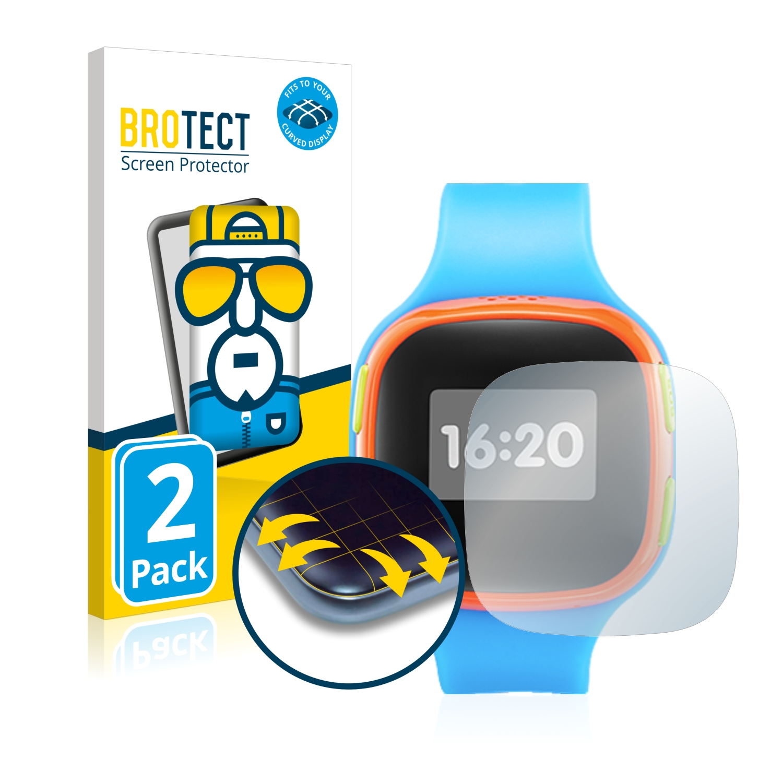 2x BROTECT Flex Full-Cover čirá ochranná fólie pro Alcatel Move Time