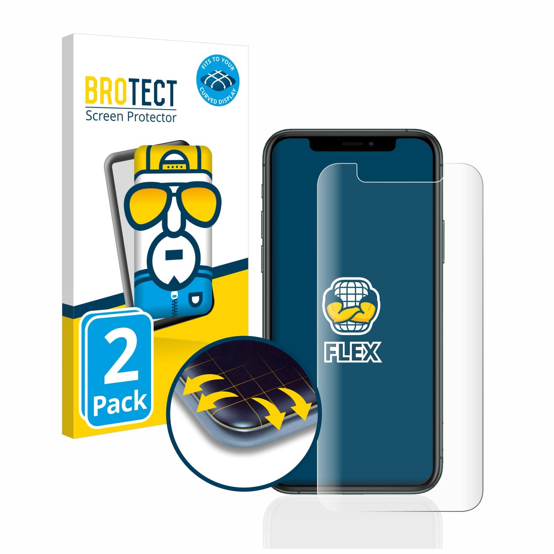 Ochranná fólie BROTECT Flex Full-Cover pro Apple iPhone 11 Pro, 2ks
