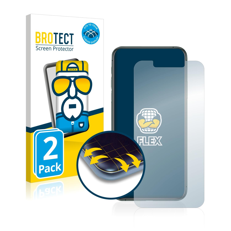 Ochranná fólie BROTECT Flex Full-Cover pro Apple iPhone 11 Pro Max, 2ks